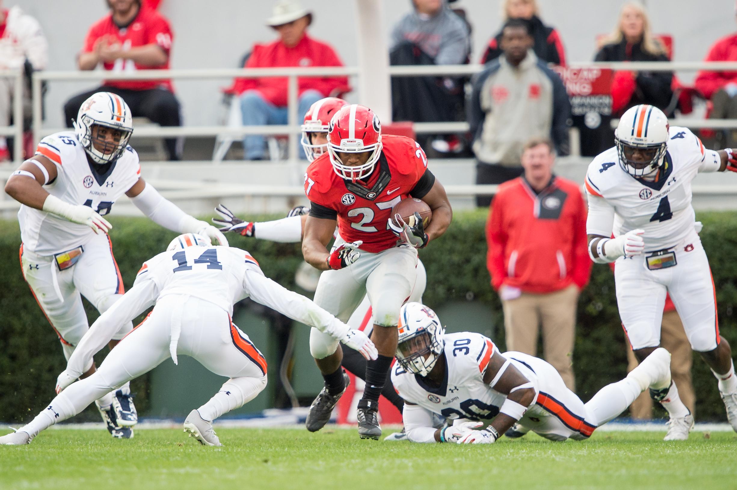 Georgia Football: breaking down matchups vs no.10 Auburn